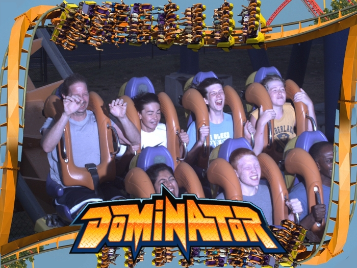 Triangle Blazers Basketball Family Vacation Roller Coaster Photo