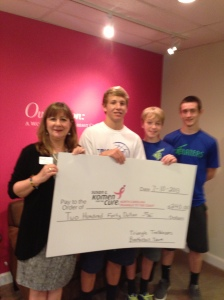 Triangle Blazers AAU Basketball Donates to Komen Race for the Cure