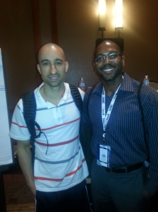 Coach Shaka Smart (left) and Coach Jason at NABC